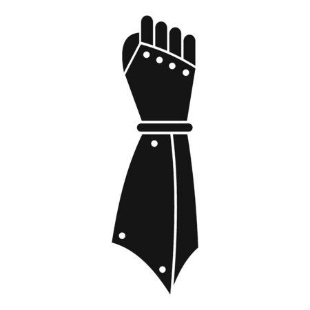 Illustration pour Knight hand icon, simple style - image libre de droit