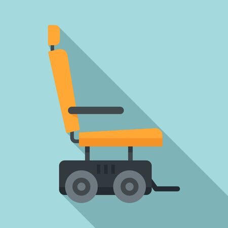 Illustration pour Motor power wheelchair icon, flat style - image libre de droit