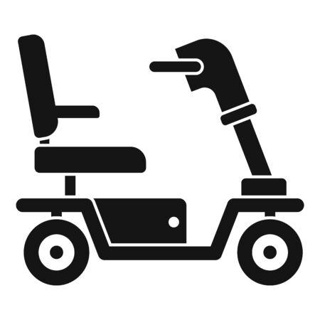 Illustration pour Motorized wheelchair icon. Simple illustration of motorized wheelchair vector icon for web design isolated on white background - image libre de droit