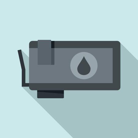 Illustration pour Ink cartridge icon, flat style - image libre de droit
