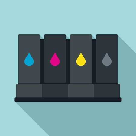 Illustration pour Printer cartridge icon. Flat illustration of printer cartridge vector icon for web design - image libre de droit
