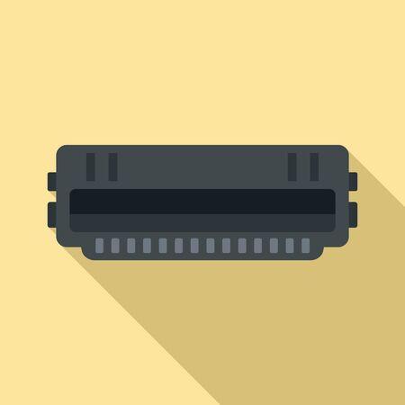 Illustration pour Cartridge roll icon, flat style - image libre de droit