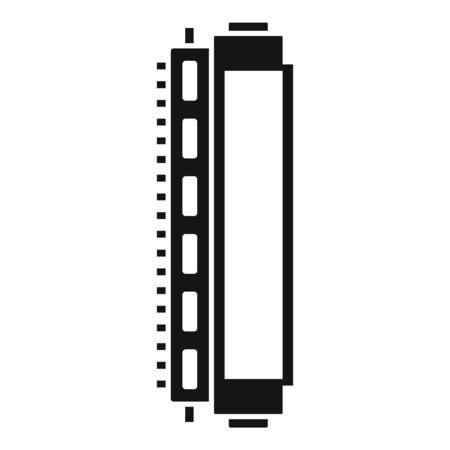 Illustration pour Toner cartridge icon. Simple illustration of toner cartridge vector icon for web design isolated on white background - image libre de droit