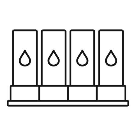 Illustration pour Printer cartridge icon. Outline printer cartridge vector icon for web design isolated on white background - image libre de droit