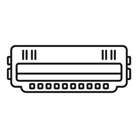 Illustration pour Cartridge roll icon, outline style - image libre de droit