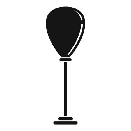 Punch bag stand icon, simple style
