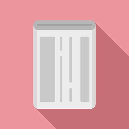 Ilustración de Mobile phone battery icon, flat style - Imagen libre de derechos