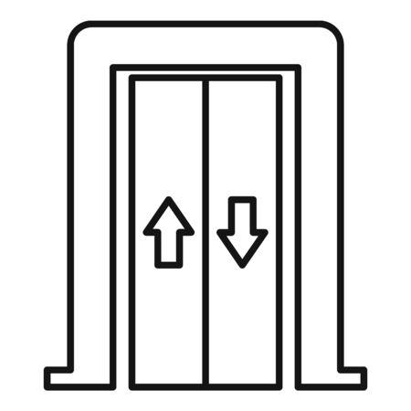 Illustration pour Bell elevator icon, outline style - image libre de droit