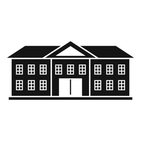Illustration pour Oxford university icon, simple style - image libre de droit