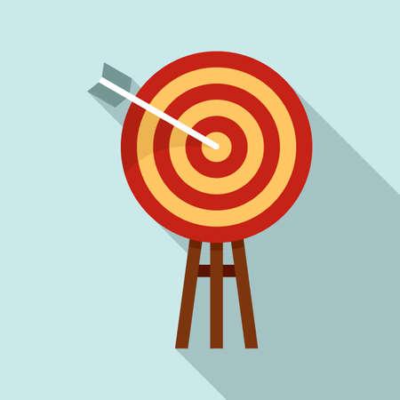 Illustration pour Innovation target icon, flat style - image libre de droit
