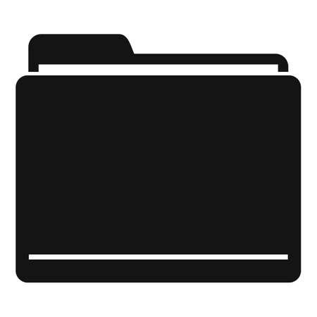 Illustration pour Storage computer folder icon, simple style - image libre de droit