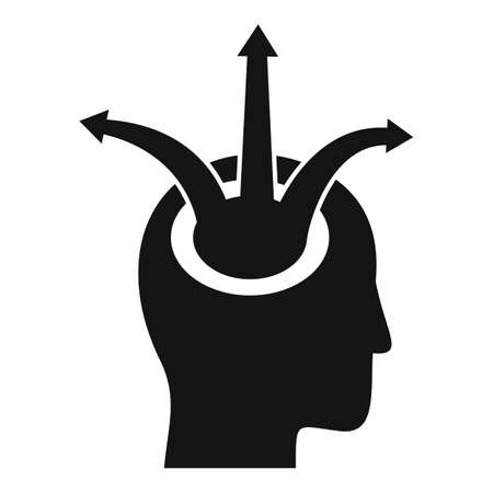 Photo for Human head opportunity icon, simple style - Royalty Free Image