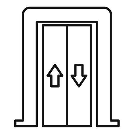 Photo pour Bell elevator icon, outline style - image libre de droit