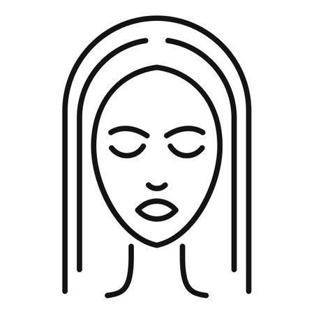Illustration pour Face cosmetology icon, outline style - image libre de droit