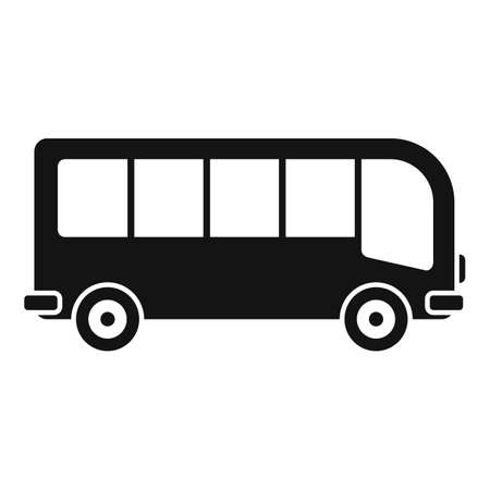 Illustration for Travel bus icon, simple style - Royalty Free Image