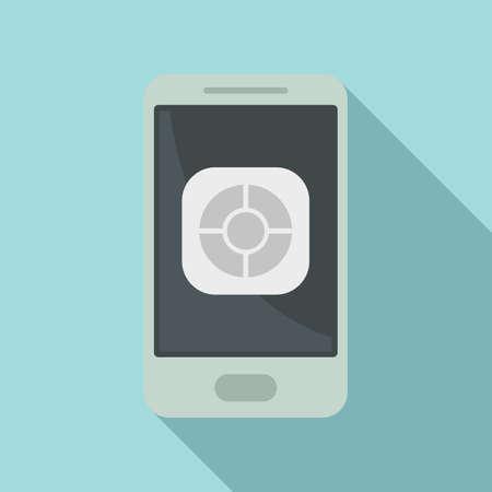 Illustration pour Smartphone remote control icon, flat style - image libre de droit
