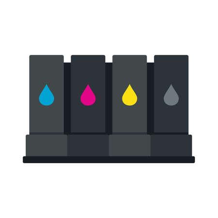 Illustration pour Printer cartridge icon flat isolated vector - image libre de droit