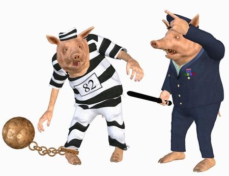 prisoner and cop