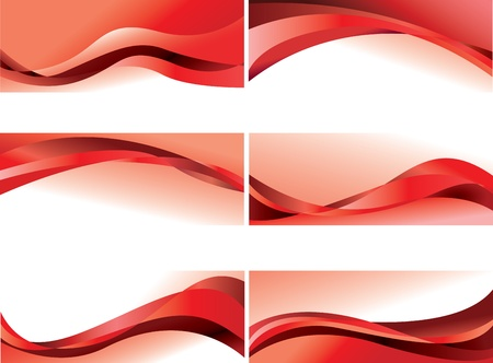 abstract backgrounds, red vector waves
