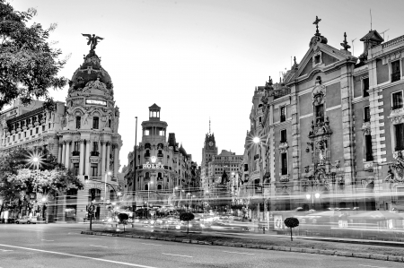 MADRID,SPAIN - SEPTEMBER 30  Gran Via street