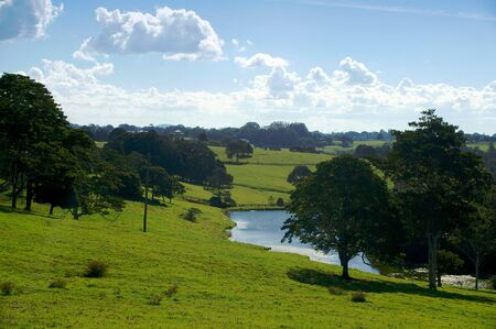 farm scene for background use of maleny queensland sunshine coast