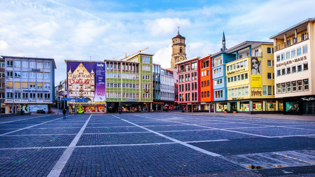 STUTTGART, GERMANY - JANUARY 25: City of Stuttgart. Modern and Old Buildings in the swabian capital of Baden Wurttemberg. Lovely and Picturesque Architecture.