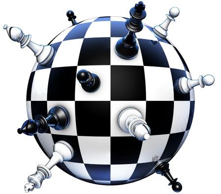 politics concept on chess