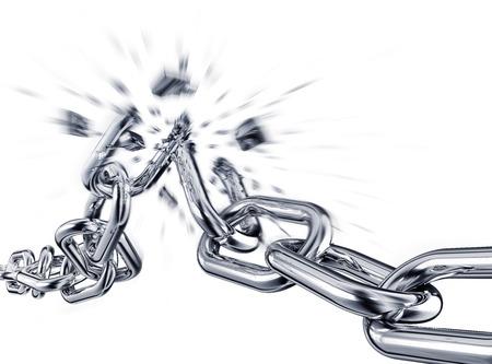 Photo pour broken chain - image libre de droit