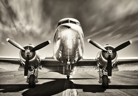 Photo for retro airplane - Royalty Free Image