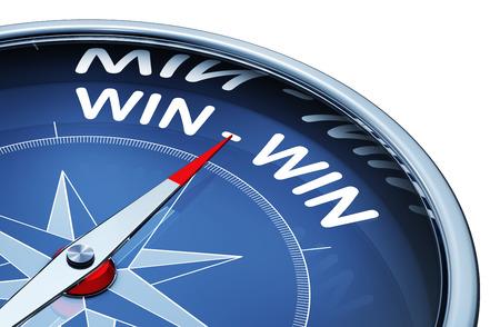 Photo pour win win compass - image libre de droit