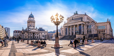 Photo for panoramic view at the gendarmenmarkt in berlin - Royalty Free Image