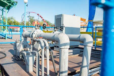 Foto für Pipeline and pump station for pressurized water. - Lizenzfreies Bild