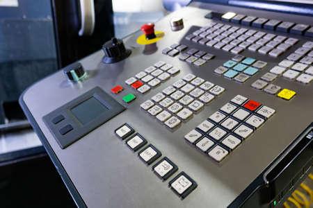 Photo pour The control panel of the cnc machine, the control of the machining center. - image libre de droit