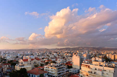 Limassol, Cyprus. Cityscape aerial view panorama.