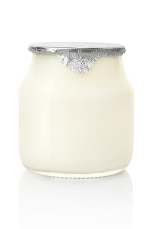 Yogurt jar isolated