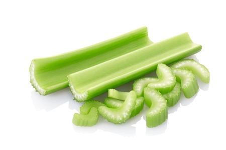 Celery sticks isolated on white background.