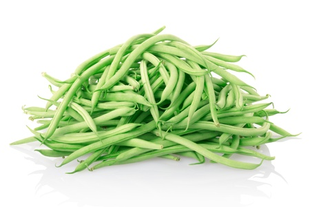 Green beans isolated on white.