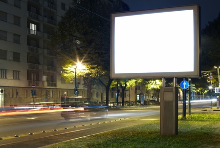 Billboard in the city street