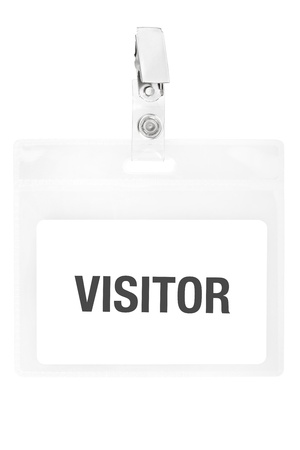 Visitor badge or ID pass with clipping path