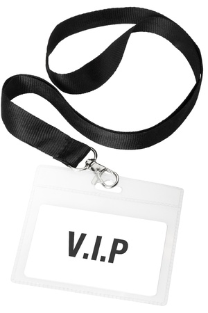 Vip badge or ID pass with clipping path