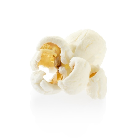 Single popcorn isolated, clipping path included