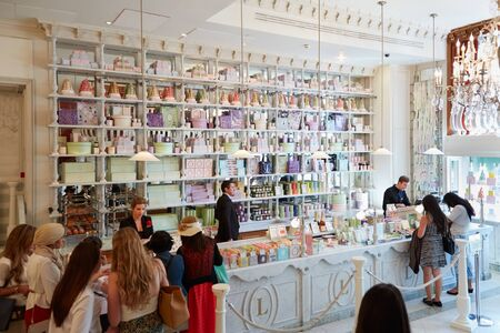 Laduree shop interior in Harrods department store in London