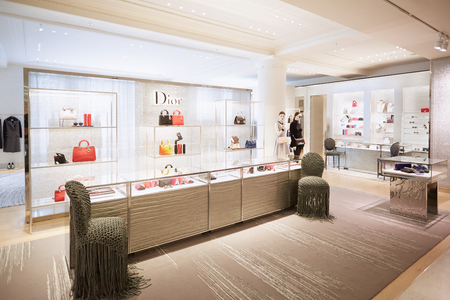 Selfridges department store interior, Christian Dior shop in London
