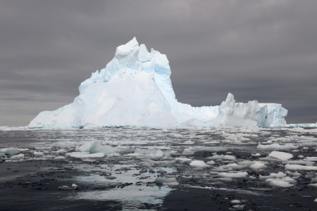 Iceberg at the Ross sea with reflection