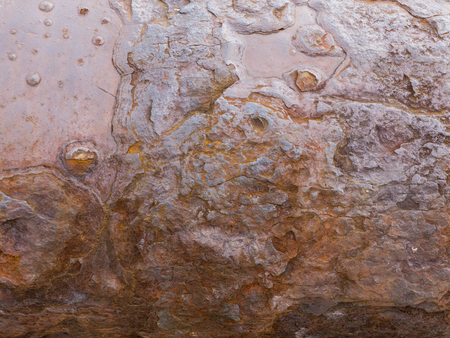 old surface of a twisted texture rusty, rough, uneven metal