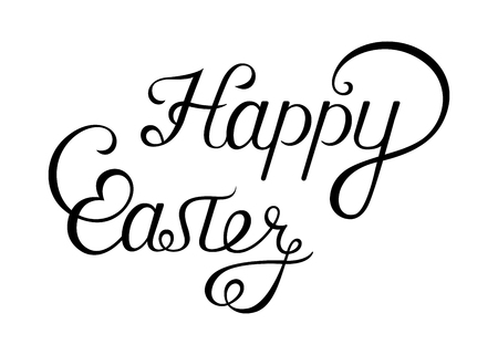 Illustration pour Happy Easter lettering, greeting card and typographical background. - image libre de droit