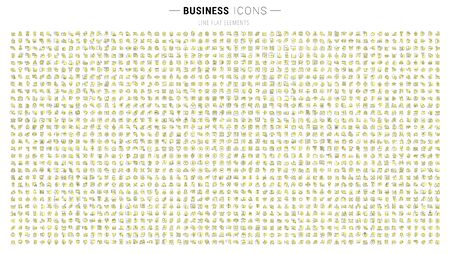 Photo pour Set of thin linear icons of business for web graphics and apps - image libre de droit