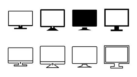 Illustration pour Computer icon set. computer monitor icon vector. - image libre de droit