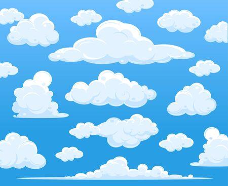 Illustration pour Blue sky with clouds, vector - image libre de droit