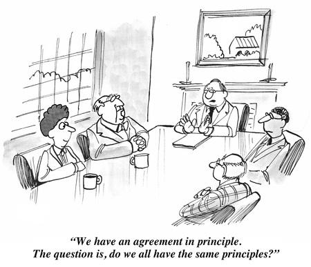 Photo pour Agreement in Principle - image libre de droit